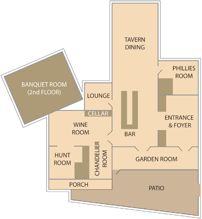 Plumsteadville Inn Floor Plan